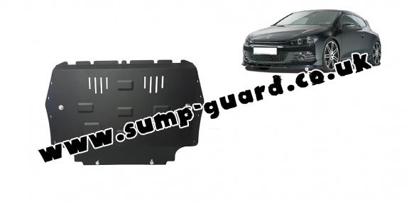 Steel sump guard for Volkswagen Scirocco