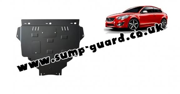 Steel sump guard for Volvo C30