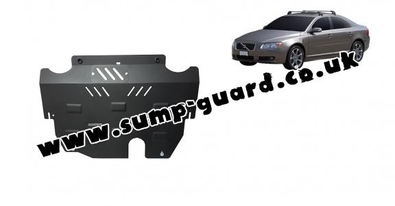 Steel sump guard for the protection of the engine and the gearbox for Volvo S80