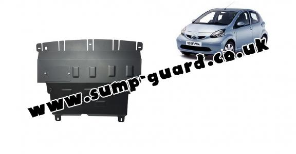 Steel sump guard for Toyota Aygo AB10