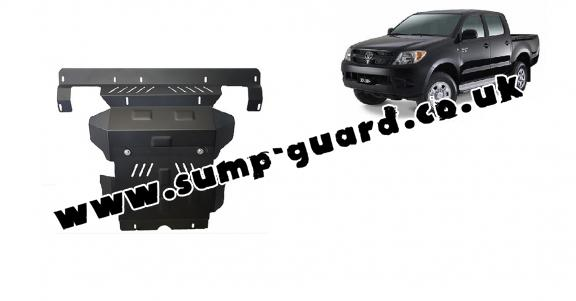 Steel sump guard for the protection of the engine and the radiator for Toyota Hilux