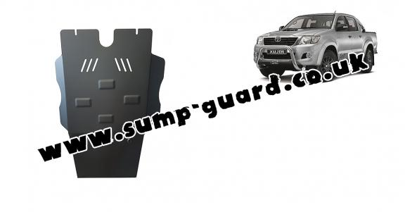 Steel gearbox and particle filter guard for Toyota Hilux