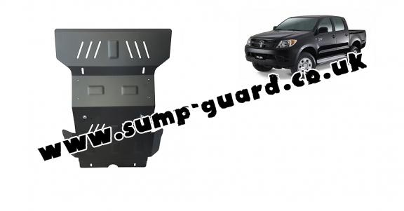 Steel sump guard for Toyota Hilux