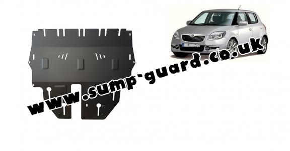 Steel sump guard for Skoda Fabia 2