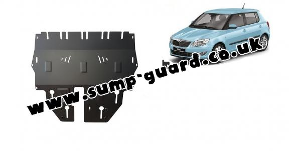 Steel sump guard for Skoda Fabia 3