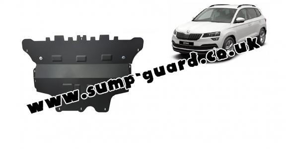 Steel sump guard for Skoda Karoq - manual gearbox