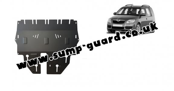 Steel sump guard for Skoda Roomster