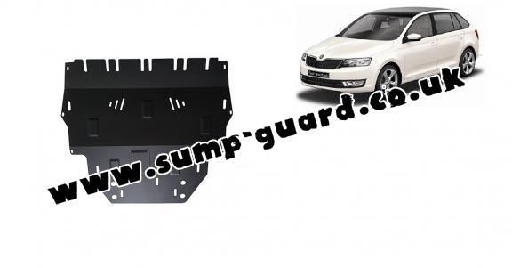 Steel sump guard for Skoda Spaceback
