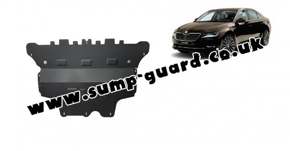 Steel sump guard for Skoda Superb - manual gearbox