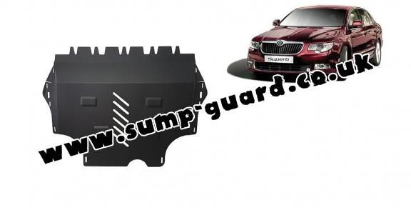 Steel sump guard for Skoda Superb