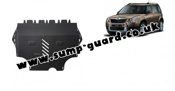 Steel sump guard for Skoda Yeti