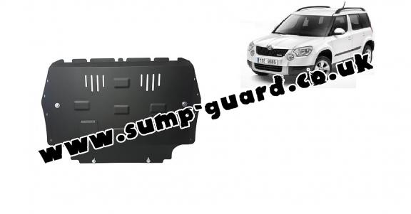 Steel sump guard for the protection of the engine and the gearbox for Skoda Yeti