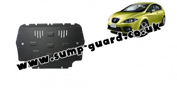 Steel sump guard for the protection of the engine and the gearbox for Seat Leon