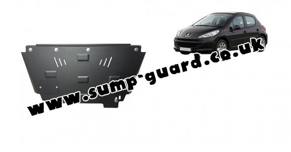 Steel sump guard for Peugeot 207