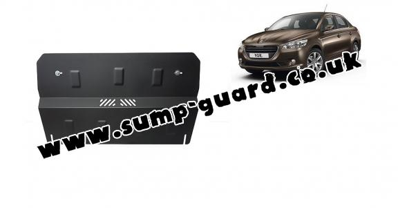 Steel sump guard for the protection of the engine and the gearbox for Peugeot 301