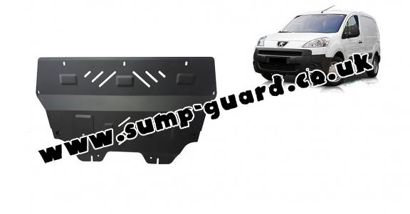Steel sump guard for Peugeot Partner