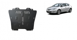 Steel sump guard for Vauxhall Astra I