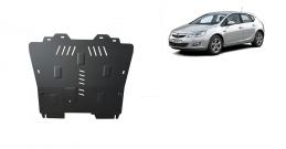 Steel sump guard for Vauxhall Astra J