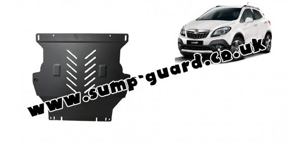 Steel sump guard for Vauxhall Mokka