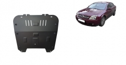 Steel sump guard for Vauxhall Vectra C