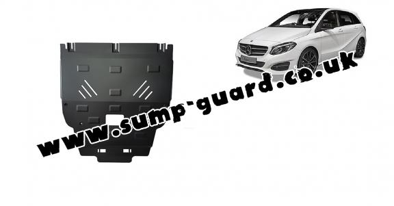 Steel sump guard for Mercedes B-Class W246