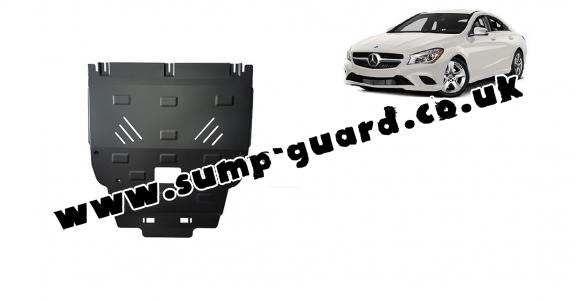 Steel sump guard for Mercedes CLA X117