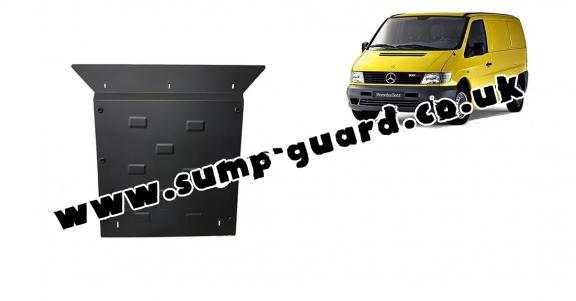 Steel sump guard for the protection of the engine and the gearbox for Mercedes Vito