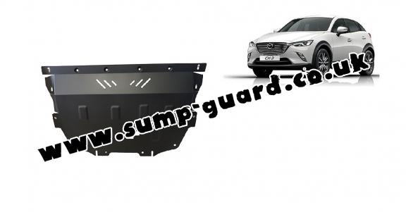 Steel sump guard for Mazda CX3