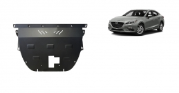 Steel sump guard for Mazda 3