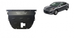 Steel sump guard for Mazda Axela