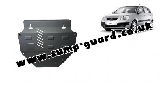 Steel sump guard for Kia Rio 2