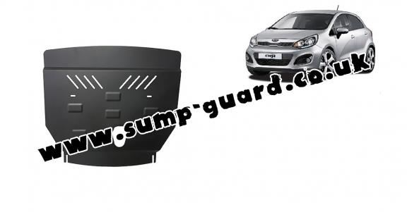 Steel sump guard for Kia Rio 3