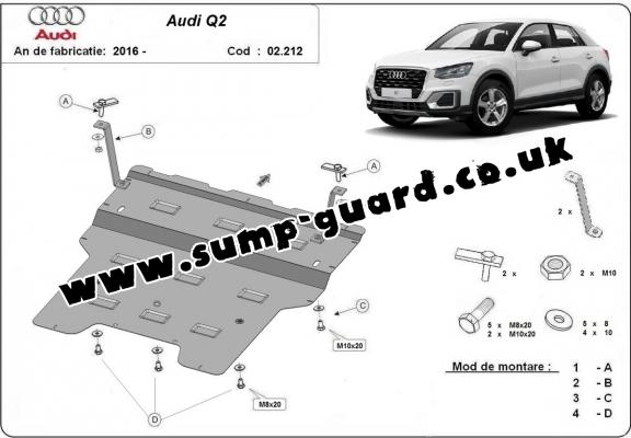 Steel sump guard for Audi Q2
