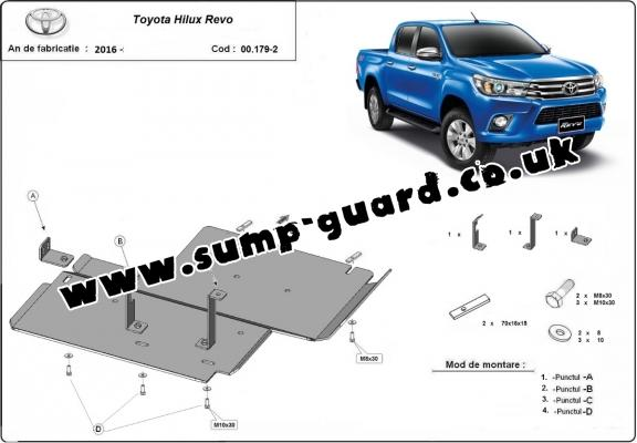 Steel differential guard for Toyota Hilux Revo
