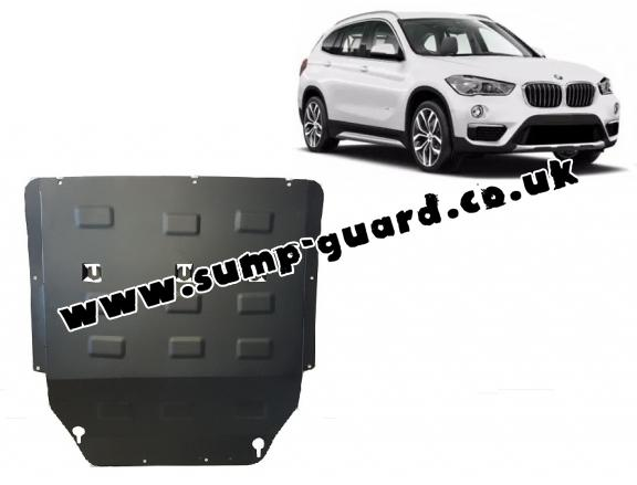 Steel sump guard for BMW X1 F48