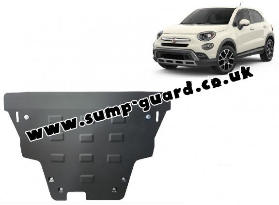 Steel sump guard for Fiat 500x