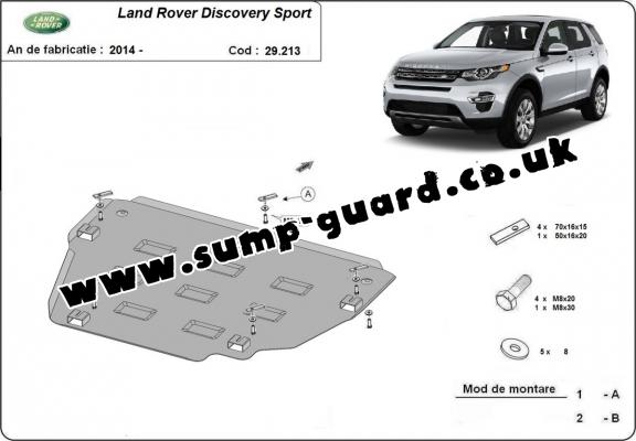 Steel sump guard for  Land Rover Discovery Sport