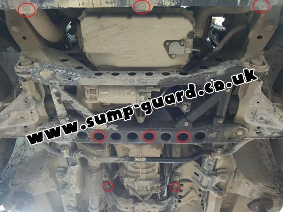 Steel sump guard for the protection of the engine and the gearbox for Mercedes Vito W447 - 2.2D 4X2