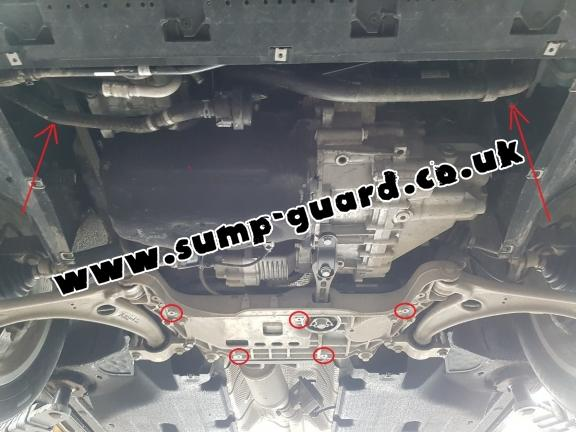 Steel sump guard for Audi Q3