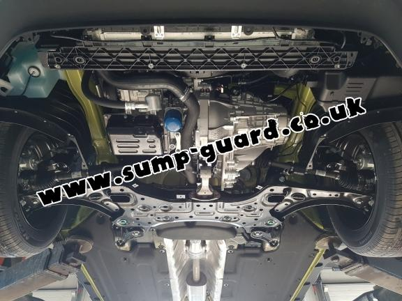 Steel sump guard for Hyundai Kona