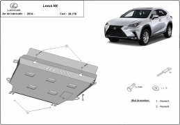 Steel sump guard for Lexus NX