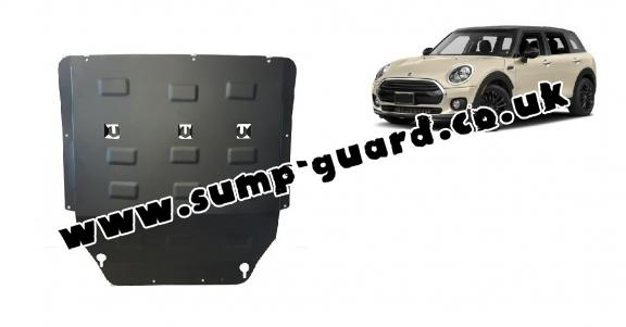 Steel sump guard for the protection of the engine and the gearbox for Mini Clubman