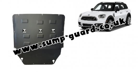 Steel sump guard for the protection of the engine and the gearbox for Mini Cooper