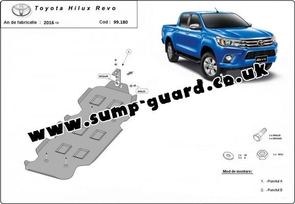 Steel fuel tank guard  for Toyota Hilux Revo