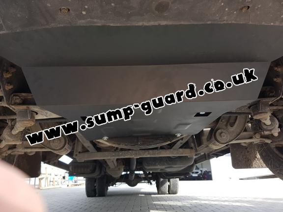 Steel sump guard for Iveco Daily