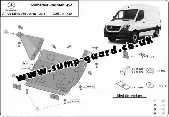 Steel sump guard for Mercedes Sprinter 4x4