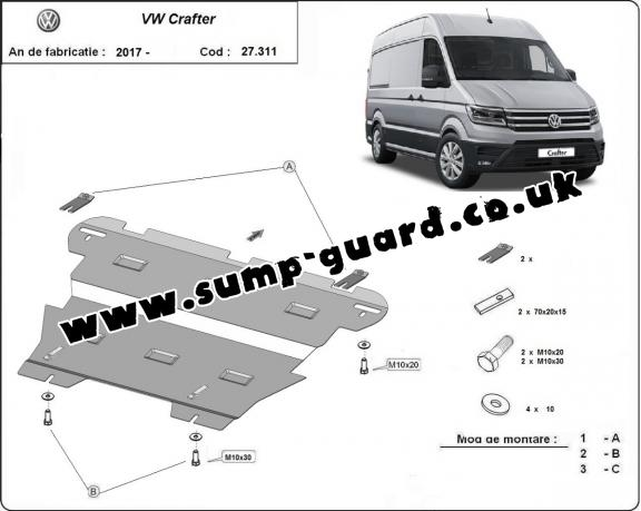 Steel sump guard for Vw Crafter