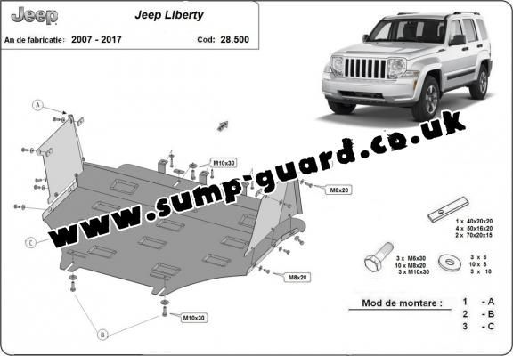 Steel sump guard for Jeep Liberty