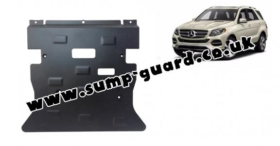 Steel sump guard for Mercedes GLE X166