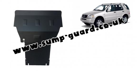 Steel sump guard for Mercedes ML W163